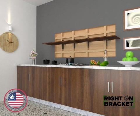 Stud Mounted Hidden Shelf Bracket