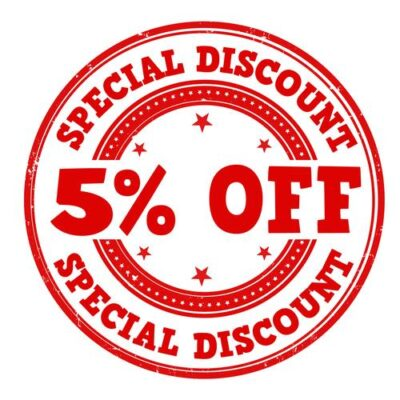 5% Off Right On Bracket Order
